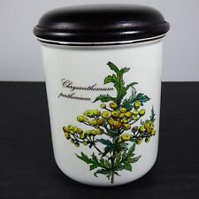 "Villeroy & Boch BOTANICA Canister Storage Jar & Lid Chrysanthemum 4 5/8"""