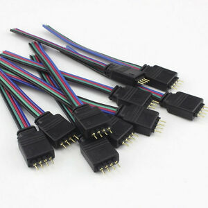 4-Pin-Female-RGB-Connectors-Wire-Cable-For-3528-5050-SMD-LED-Strip-Light-PB