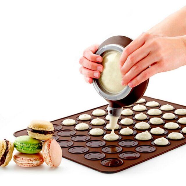 48 Cavities Macaron Baking Mat Silicone Macaroon Tray Non Stick Mould Sheet Mat