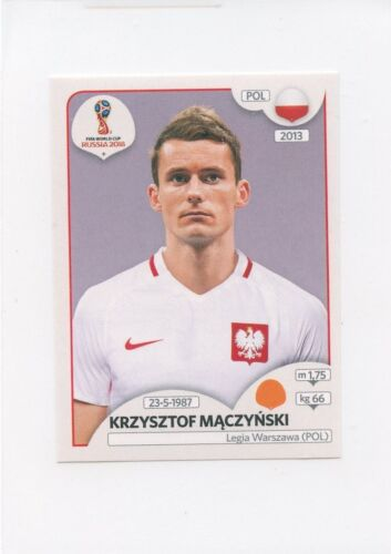 2018 PANINI STICKER FIFA WORLD CUP RUSSIA #606 KRZYSZTOF MACZYNSKI POLAND *49430