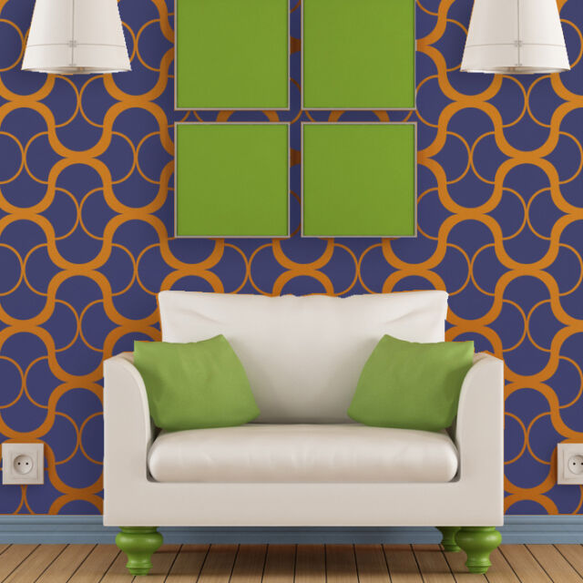 Large Modern Wall Stencil Geometric Pattern for Easy DIY Home decor