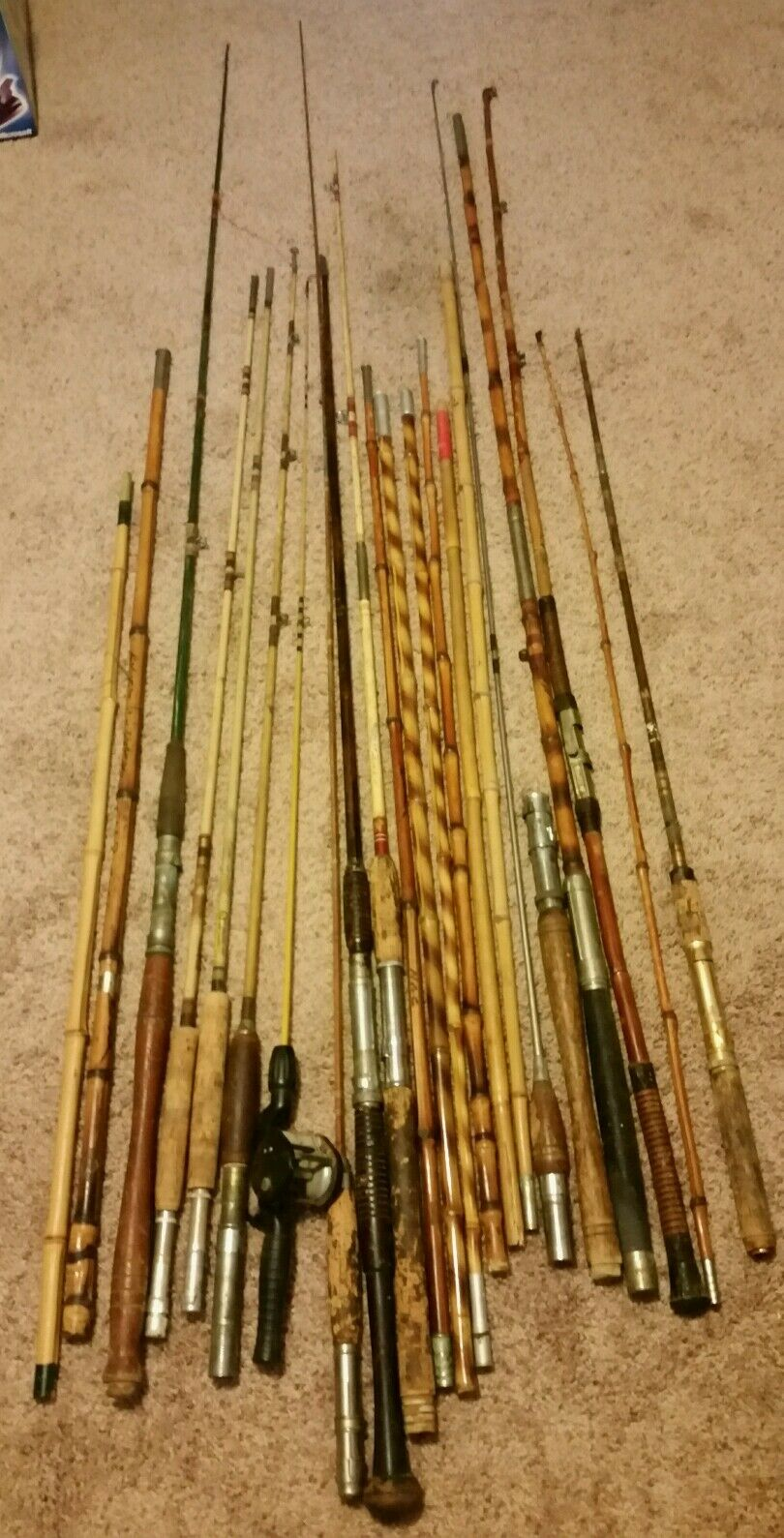 Vintage Lot of wood and  Bamboo Rod Section  parts or Repair  online cheap