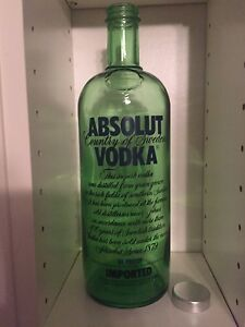 Details about Absolut Vodka GREEN TINTED prototype made at the Hammar  Factory