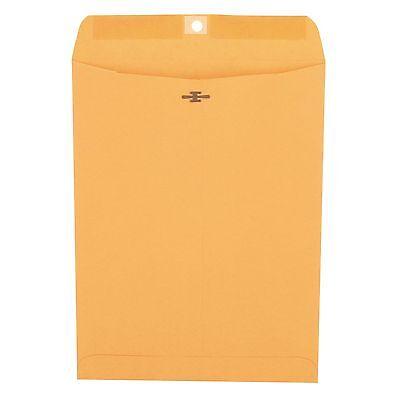 Universal Clasp Envelope, Side Seam, 28lb, 9 x 12, Light Brown Kraft, 100-Count