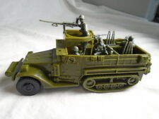 Classic Toy Soldiers WWII US Halftrack W/ 4 Man Crew & Weapons - Battleground