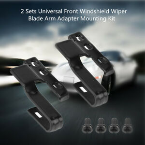 2-Set-Universal-Front-Windshield-Wiper-Blade-Arm-Adapter-Mounting-Kit-3392390298