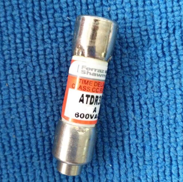 600VAC Time Delay Classe CC Fuse 5 Ferraz Shawmut Mersen ATDR 5 ATDR 5 Amp