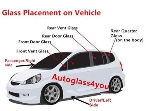 For 14-18 Kia Soul,16-18 EV Hatchback Rear Window Door Glass Passenger//Right