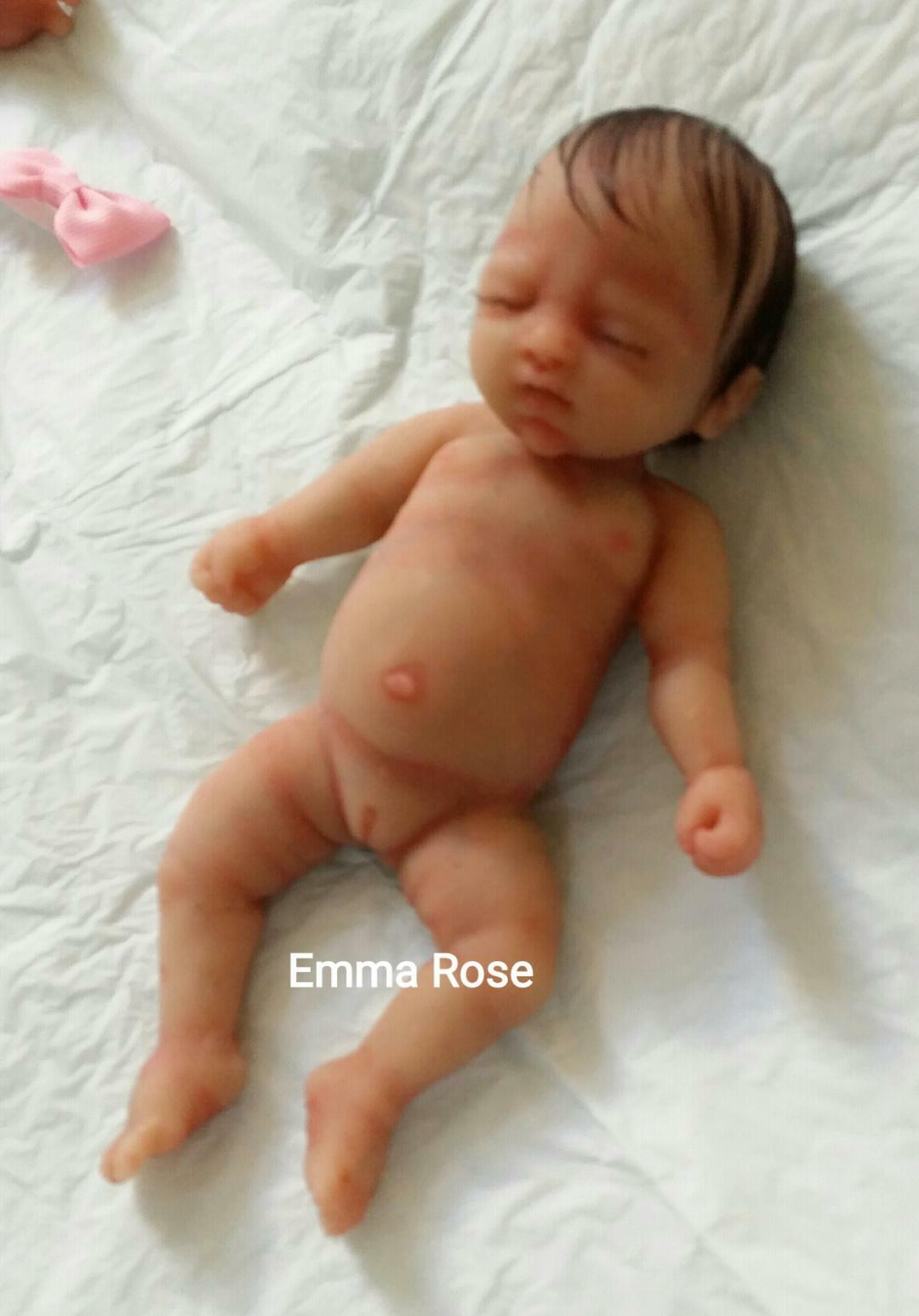 Silicona Completa 7  Bebé Niña (Emma rosado) arraigado pelo pintado con