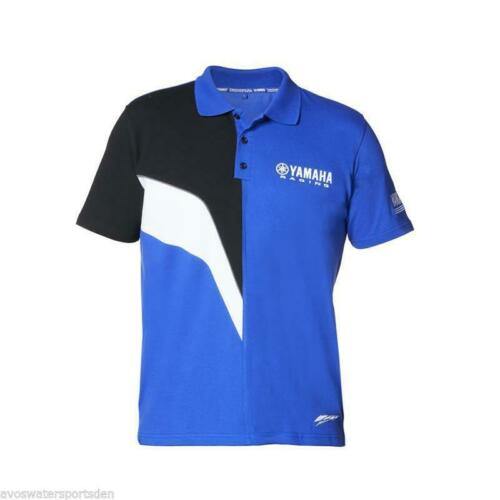 Genuine Yamaha 2017 Paddock Azul Camisa Polo para hombre Camiseta Top Jetski Bicicleta De Carreras Mx
