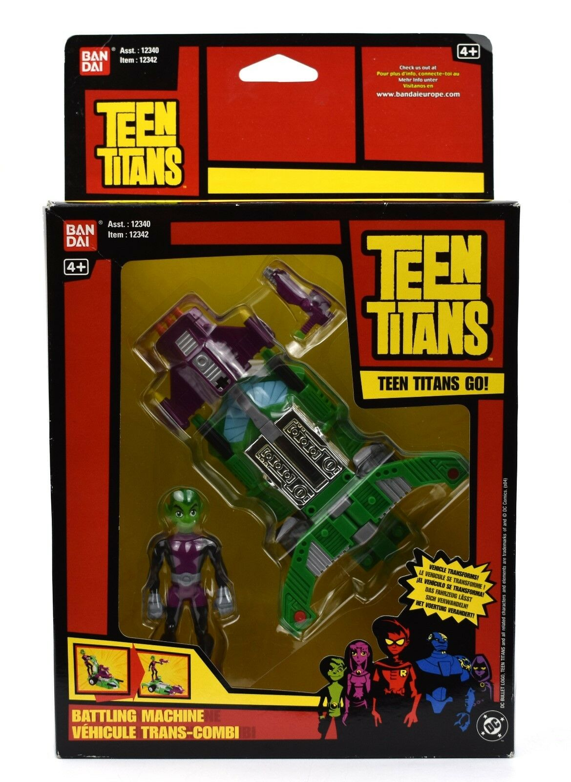 DC Teen Titans Go - Beast Boy Landmower Landmower Landmower Transforming Vehicle Action Figure Set 565278