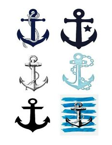 6-Anchors-FABRIC-T-SHIRT-IRON-ON-TRANSFER-iron-on-APPLIQUE-make-your-own-shirt