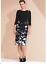 Stylish-Draped-Bodice-Dress-with-Corsage-Detail-Size-20 thumbnail 1