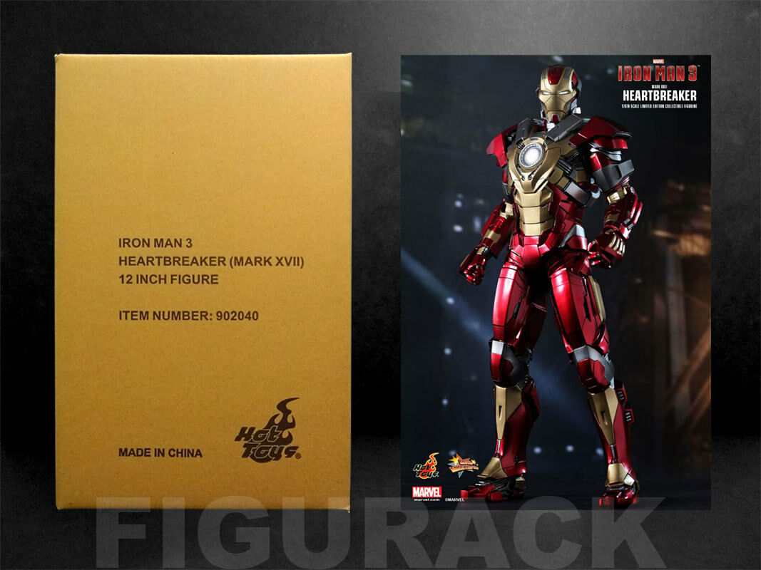 Hot Toys Ironman 3 Ironman XVII Heartbreaker 1 6th Action Figure (Etats-Unis vendeur)