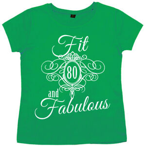 Image Is Loading 80th Birthday T Shirt 034 Fit 80 Amp