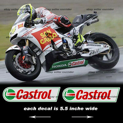 castrol oil decal sticker (pair) for superbikes