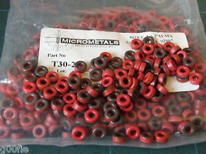 Details about 5 Pc T30-2 Micrometal Toroid Red Iron Dust 0 30