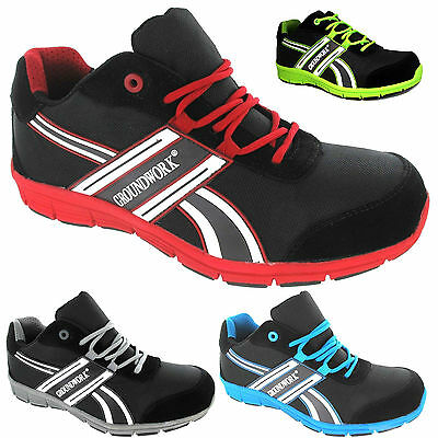 MENS GROUNDWORK ULTRA LIGHTWEIGHT STEEL TOE CAP SAFETY TRAINERS SHOES BOOTS GR24