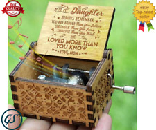 Wooden Music Box Mom To Daughter -You Are My -Sunshine Engraved Toy Kid Gifts