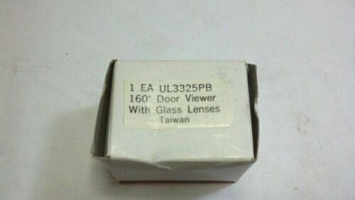 """160 Degree Peephole Door With Glass Lenses Fire Rated 1/"""" Bore UL3325PB A800-05"""
