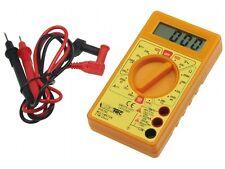 Digital Multimeter Messgerät LCD Amperemeter Voltmeter Stromtester + Prüfkabel