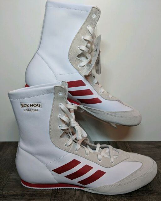 New Adidas Box Hog x Special Boxing Shoes WhiteRed AC7148 Men's Size 10.5
