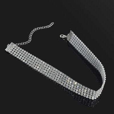 Luxury Women Bling Diamond Crystal Rhinestone Choker Necklace Wedding Jewelry