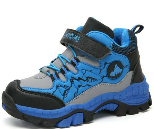 Boys Kids Winter Waterproof Snow Boots Outdoor Sneakers Hiking Shoes Plus Size