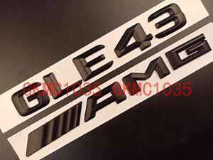"Gloss Black Letters /""GLE43 //////AMG/"" Trunk Badge Emblem Sticker for Benz GLE43 AMG"