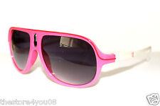Women's Men's Aviator Sunglasses neon Sport Surfer Snowboard Skate white pink