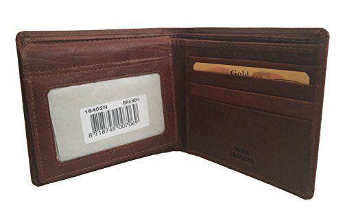 Spikes /& Sparrow Deluxe Bi-Fold Buffalo Leather Wallet in Brandy