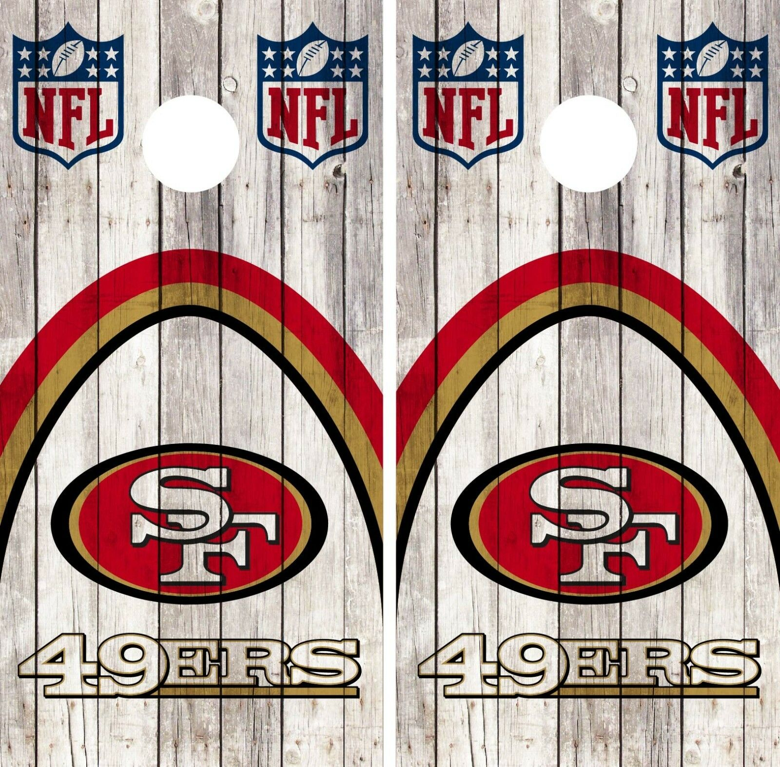 San Francisco 49ERS Cornhole Wrap NFL Wood Game Skin Board  Set Vinyl Art CO115  up to 60% off