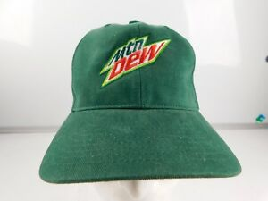 VTG-MTN-Mountain-Dew-Green-Flat-Bill-Strapback-Hat-Cap-Adult-embroidered-NOS