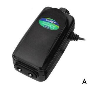 Aquarium-Ultra-Silent-Luftpumpe-Kompressor-Doppel-Einzelausgang-8W-12W-He-X0X8