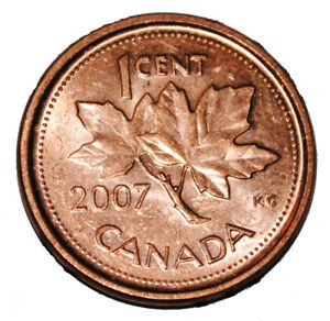 1 cent 2007 Canadian Proof Penny One Cent
