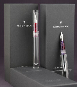 NEW-Moonman-C1-Transparent-Eye-Dropper-Filling-Fountain-Pen-Large-Capacity-Gift