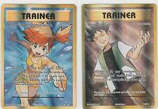 2x LOT Pokemon EVOLUTIONS Ex Full Art Trainer MISTY'S DETERMINATION BROCK'S GRIT