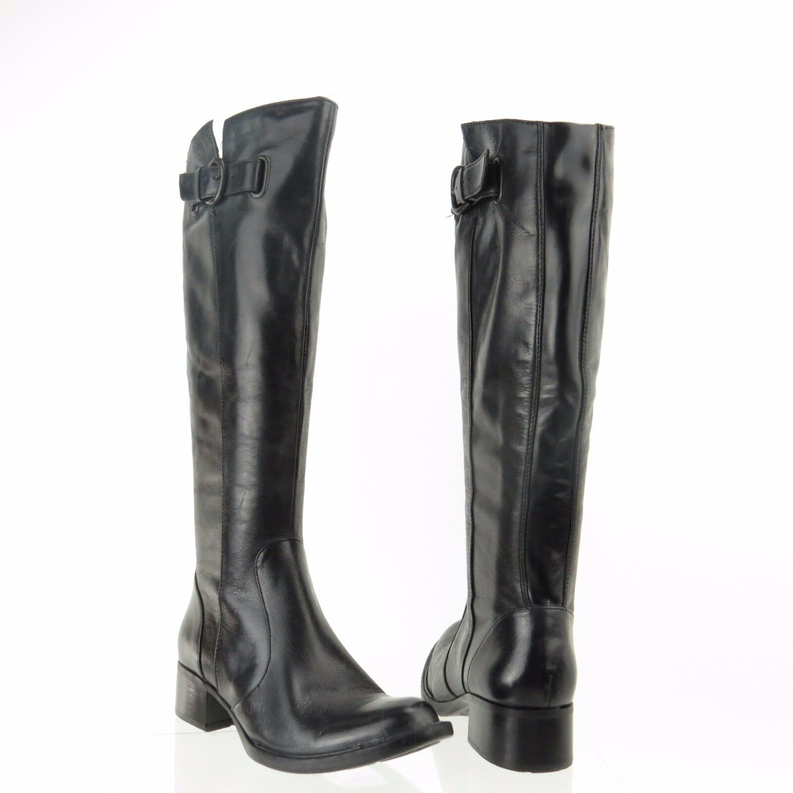 Womens Crown By Born Roxie shoes Black Leather Knee High Fashion Boot Sz 5 M NEW