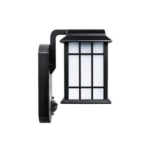 Maximus Smart HD Camera Outdoor Light Video Secuirty Black Alexa//Kuna Compatible