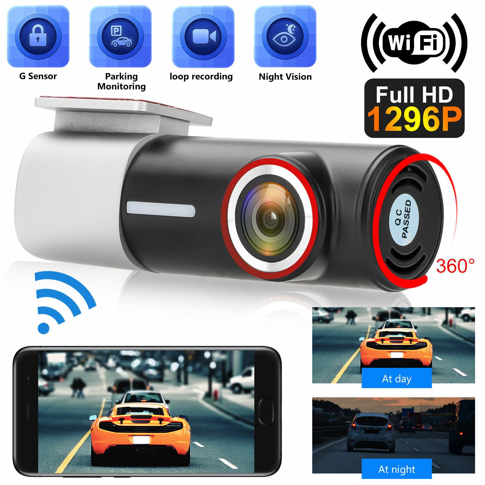 1296P Wifi Hidden Car DVR Camera Dash Cam Video Recorder Night Vision G-Sensor 1296p cam camera car dash dvr Featured hidden recorder video wifi