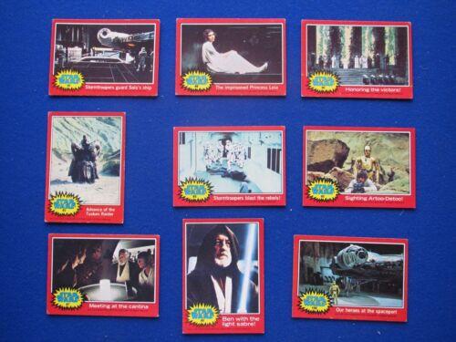 Star Wars Bubblegum Cards : U.S Issue Odd Cards Topps 1977 Red Set