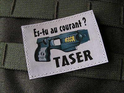 Snake Patch Humour Police Taser Es Tu Au Courant Ecusson
