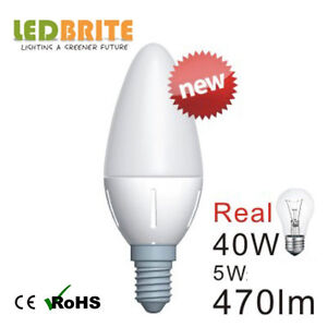 10 x 5Watt DIMMABLE E14 SES Small Edison Screw Candle DIMMABLE LED Light Bulb