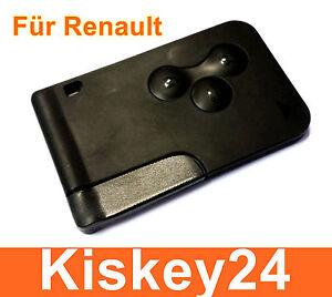 3tasten schl ssel karte geh use f r renault megane scenic. Black Bedroom Furniture Sets. Home Design Ideas