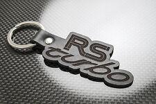 FIESTA RS TURBO Leather Keyring Keychain Schlüsselring Porte-clés Mk3 FORD CVH
