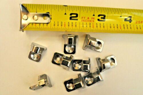 BLUNT tip Rivet-on screw-on Chrome VTG Car moldings Trim