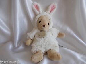 Doudou lapin beige, fourrure blanche, Histoire dours
