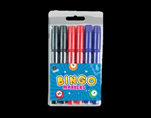 6x Lucky Bingo Markers Ideal for Bingo Playing Kids School Marker Pens