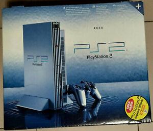 SOLO-RITIRO-Console-SONY-Playstation-2-AQUA-FAT-50004-SIGILLATA-PS2-PAL-ACQUA