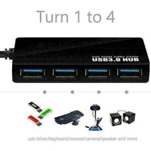 4-fach-Port-USB-3-0-Multi-HUB-Splitter-Erweiterungs-PC-Laptop-Kabeladapter-O3G0